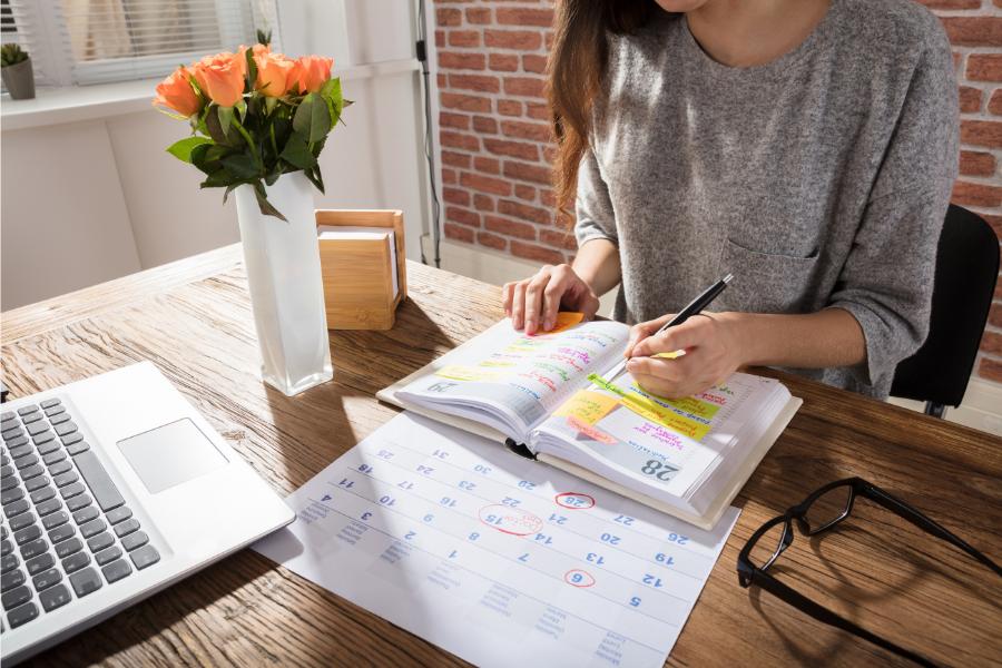 ways to organize your time. - work life balance